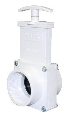 "Valterra 6207 PVC Gate Valve, White, 2"" FPT by Valterra Products"