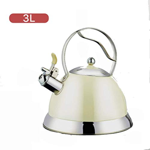 Stove Top Whistling Tea Kettle - 3 Liter chirurgisch roestvrij staal theepot - Inductie Whistling Stovetop Kettle met Cool Toch ergonomische handgreep (Color : A)