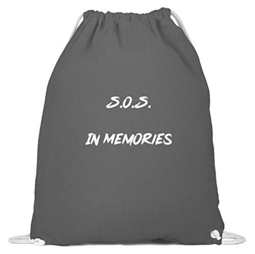 SPIRITSHIRTSHOP SOS In Memories Fan Design Lied Song pour homme et femme Pour toutes les occasions, amoureux - En coton - - Gris graphite, 37cm-46cm