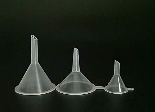3 pk Mini Plastic Funnel Clear