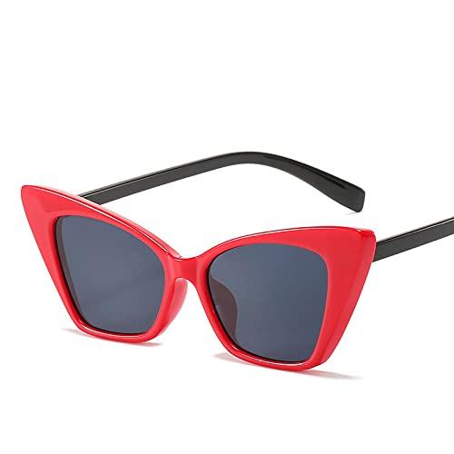 ShZyywrl Gafas De Sol De Moda Unisex Gafas De Sol Rectangulares Pequeñas para Mujer, Gafas De Sol De Ojo De Gato Steampunk Vintage De Los Años 90 para Mujer, U