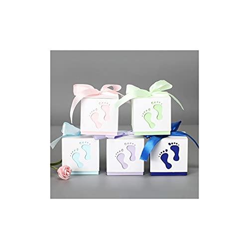 Alysays Useful 5 unids Baby Pies Candy Regalo Caja Cumpleaños Primera Comunión Niño Bebé Bebé Ducha Boda Favores Drageo Bautismo Caja de Pastel Embalaje Convenient (Color : Purple)