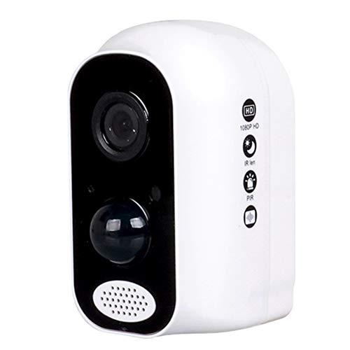 GAOJIAN Telecamera di Sicurezza Impermeabile,Batteria per Fotocamera Intelligente,8 luci a infrarossi,10 Metri di Visione Notturna