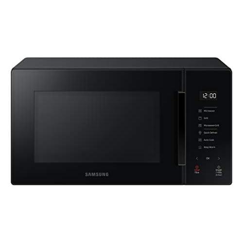 Samsung MG23T5018AK Forno Microonde, 23 Litri, 1100 W, Cottura Automatica e Home Dessert, Glass Design, Nero