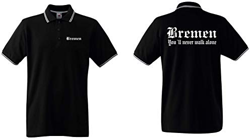 world-of-shirt / Bremen Herren Polo-Retro Fan Ultras