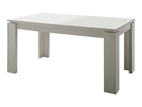 Dreams4Home Esstisch \'Wien\', (B/H/T) ca. 160-200 x 77 x 90 cm, Esszimmertisch, Tisch, Esszimmer, Küche, Büro, in Pinie weiß
