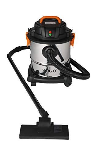 SOGO SS-16135 Aspirador húmedo y seco con accesorios y filtro HEPA