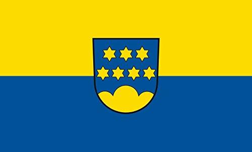 Unbekannt magFlags Tisch-Fahne/Tisch-Flagge: Emeringen 15x25cm inkl. Tisch-Ständer