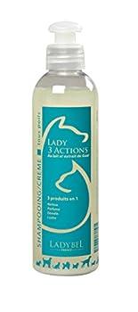 Ladybel Lady 3 Actions Shampooing Démêlant pour Chien 200 ML