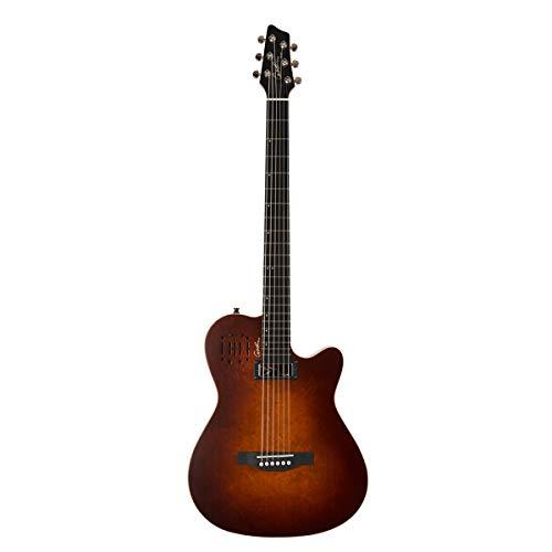 Godin A Series A6 Ultra Bariton Akustik- und E-Gitarre Burnt Umbra