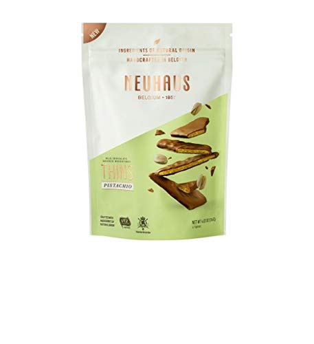 Neuhaus - Biscuits de Nougatine de pistachos bañados con chocolate con leche 114 g