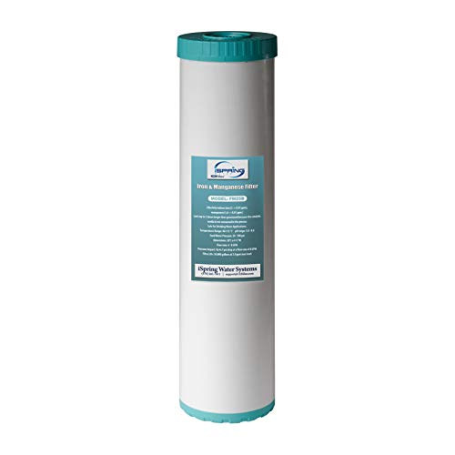 """iSpring FM25B Iron Manganese Reducing Whole House Water Filter Replacement, High Capacity 4.5"""" x 20"""""""
