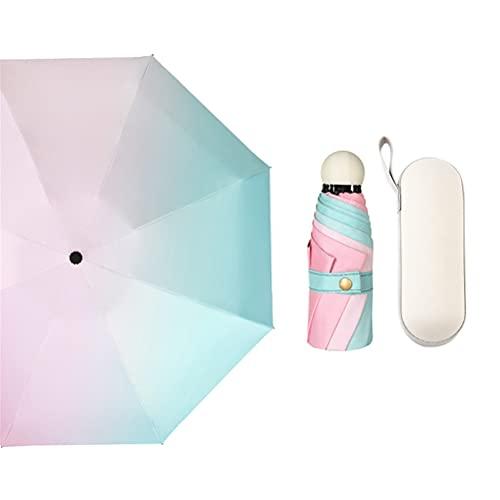 HItiejoy Paraguas plegable manual automático para lluvia y sol, color degradado