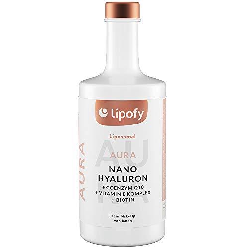 Lipofy® AURA | 60 Tage Beauty-Drink für Wimpern, Haut & Haare | NanoHyaluron®, Q10, Biotin | Liposomale Formel für maximale Aufnahme | Pharmazeutische Qualität | Vegan