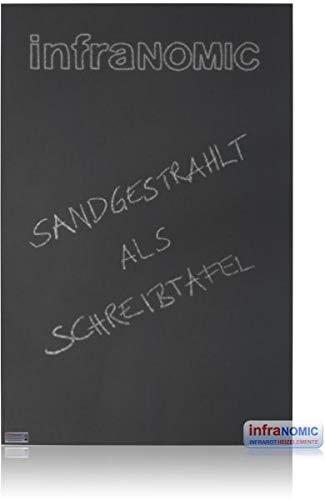 Infranomic Glasheizelement mit Sandstrahlmattierung Infrarot-Heizung, schwarz