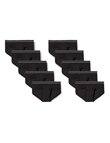 find. Herren Slip aus Baumwolle, 10er-Pack, Black (Black), L, Label: L