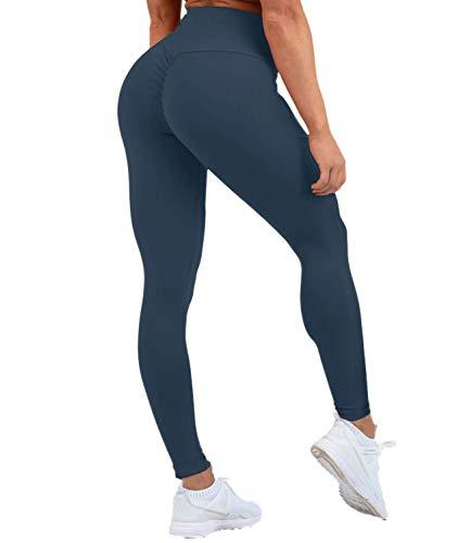 DUROFIT Mallas Deportivas Opacas Scrunch Butt para Mujer Pantalones Deportivos de Cintura...