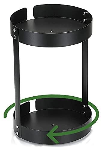 Rack de especias giratorias, estante de especias independientes, perchero de almacenamiento de encimera for gabinetes de almacenamiento de cocina, accesorios de almacenamiento giratorio de 360 ° for