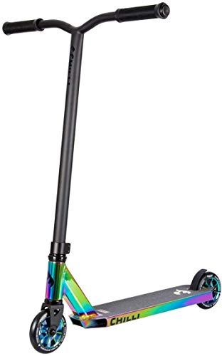 Chilli Rocky Scooter Grind – 360 – neocromo | excelente patinete para acrobacias | robusto manillar giratorio ideal para trucos (especial neocromo incluye candado)