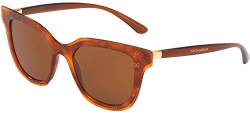Dolce & Gabbana 0DG4362 Gafas de sol, Honey Havana Dg Gold, 51 para Mujer