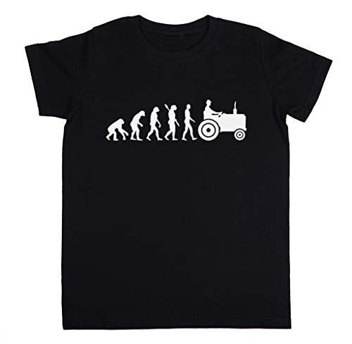Evolutie Trekker Unisex Kinder Jongens Meisjes T-shirt Zwart Unisex Kids Boys Girls's T-Shirt Black