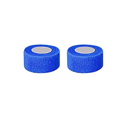 Rosenice - Cinta adhesiva elástica fuerte para vendaje, 12 rollos, color azul