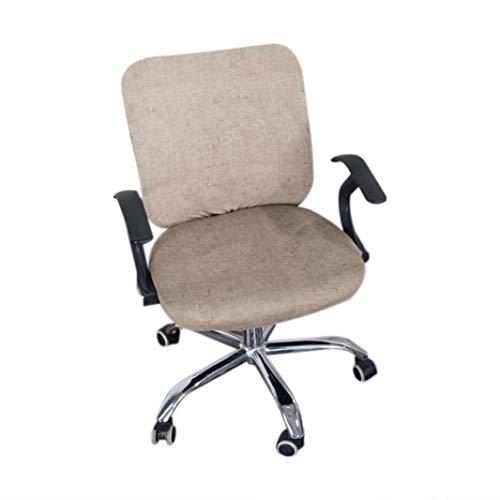 NIKIMI Bürostuhlhussen Stretch Baumwolle Computer Stuhl Schonbezug Blume Gedruckt Abnehmbare Drehsessel Schutzhülle