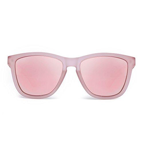 JIM HALO Gafas de Sol Retro Polarizadas Lente Reflexivo Espejo Anteojo