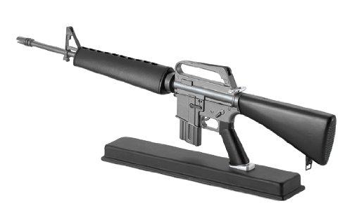 【銃レプリカ】TSSフォーチュン M16 M16A1自動小銃(USA)本体サイズ 48.7x11.9x4.3cm、本体重量 1.4kg、比率 1:2.05、木箱入り