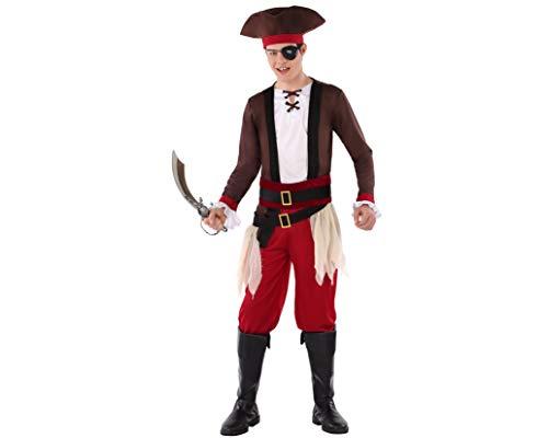 Atosa-61623 Atosa-61623-kostuum voor jongens, piraten, heren, 61623, rood, jongeren