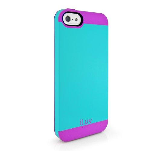 iLuv Flighfit - Cover per iPhone 5/5s, Colore: Celeste