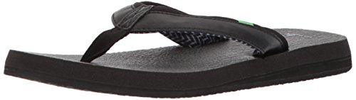 Sanuk Women's Yoga Mat 2 Flip-Flop, black, 08 M US