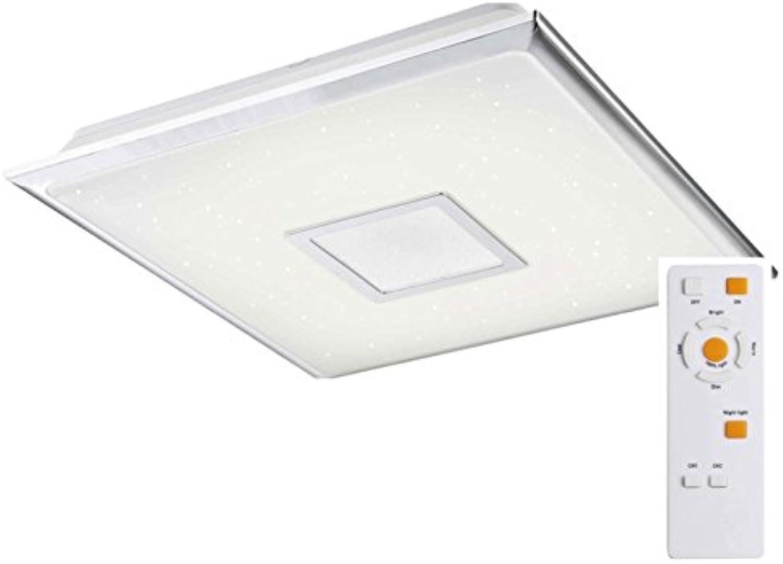 LED Deckenlampe mit Farbwechsel Deckenleuchte mit Fernbedienung Warmwei bis Tageslichtwei (Eckige Flurlampe, Deckenstrahler, 40 Watt, Wohnzimmerlampe, Schlafzimmerlampe, 46 cm)