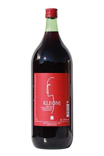 Kleoni Rotwein Imiglykos lieblich Lafkiotis 2 L Flasche - griechischer roter Wein Rotwein Griechenland Wein