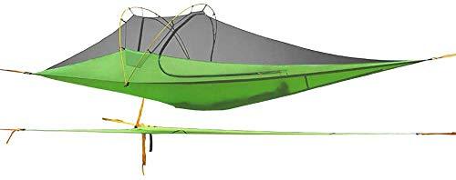 Nuokix Camping-Zelt, Outdoor-Camping-Zelt Fliegende Untertasse Typ Boden Hammock Zelte Sun Shelter Wasserdicht Shade Baldachin for Überleben Bergsteigen Wandern Reisen Aussenzelt