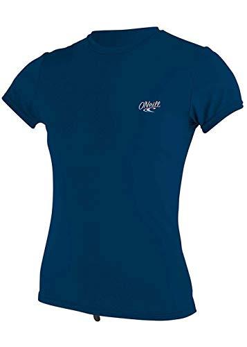 Camisa de Sol de Manga Corta para Mujer O';Neill Premium Skins - Abyss - Protection Solar UV de Dry rápido Easy Stretch y Properties SPF