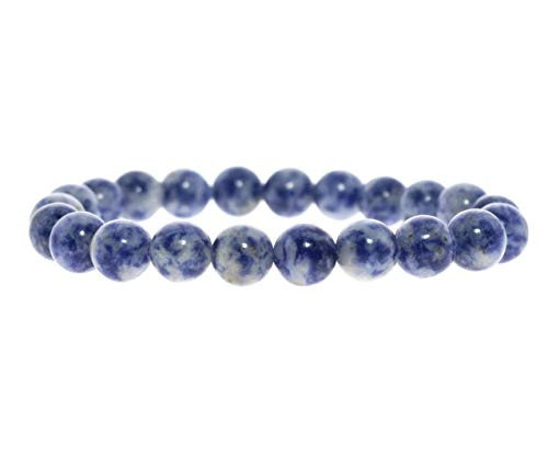 Kraft – kraft – Chakra armband/tänjbar/8 mm natursten – för ditt välbefinnande e...