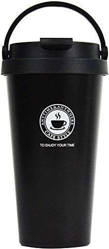 CESSBO Tazza Termica,Tazza per Caffe da Viaggio,Portatile Bottiglia in Acciaio Inossidabile Adatta a Caffe (Black)