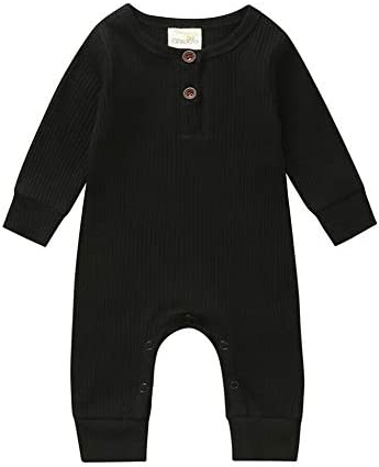 Madjtlqy Baby Girl Boy Infant Bodysuit Newborn Sleepwear Long Sleeve Romper Jumpsuit One Piece product image