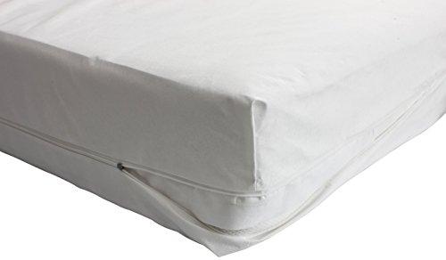 Carevitex Allergiker Bettwäsche 2160 Helsinki milbendichter, anti-allergener, atmungsaktiver Matratzenbezug Matratzenhülle aus Evolon, 90x200 x20 cm, perfekter Schutz für Hausstaub- Allergiker