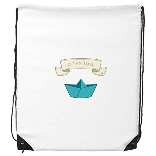 DIYthinker Papier Falten Boot Ozean Love Sea Segeln Rucksack-Shopping Sport Taschen Geschenk