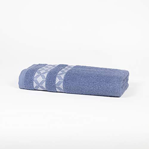 Toalha Prata Diamond Santista - Rosto - Azul