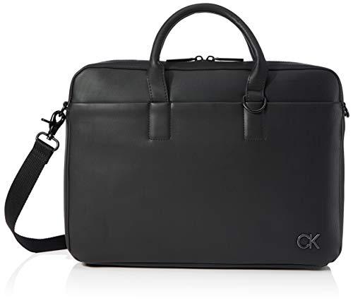 Calvin Klein Sacoche pour ordinateur portable pour homme Noir