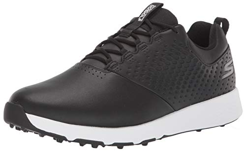 Skechers Men's Elite 4 Waterproof Golf Shoe, Black/White, 11 M US