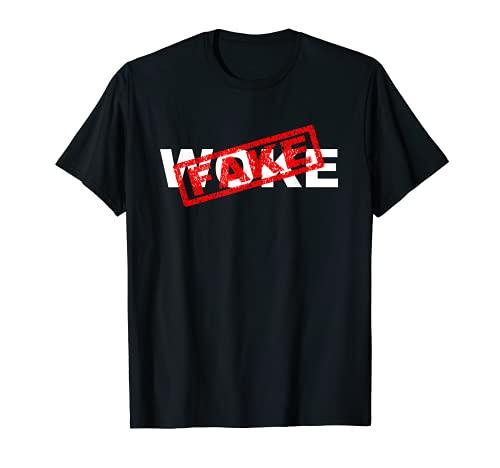 Fake Woke - Estilo Hip Hop Rap Camiseta