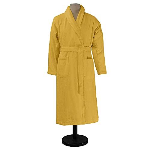 ESSIX Aqua - Albornoz de baño, algodón, Color Amarillo