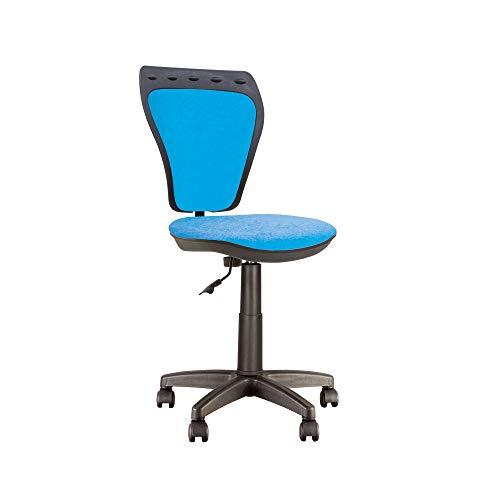 MiniStyle - Seggiolino da scrivania per bambini, girevole a 360°, altezza regolabile, schienale regolabile, profondità regolabile (blu)