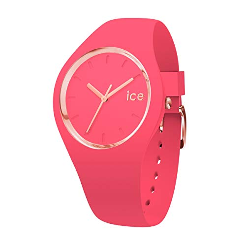 Ice-Watch - ICE glam colour Raspberry - Reloj rosa para Mujer con Correa de silicona - 015335 (Medium)