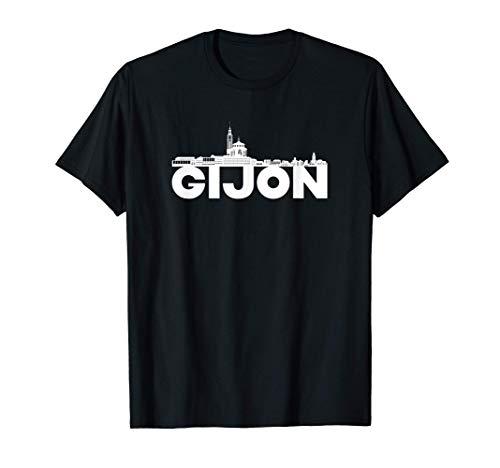 Silueta del horizonte de Gijon City Camiseta