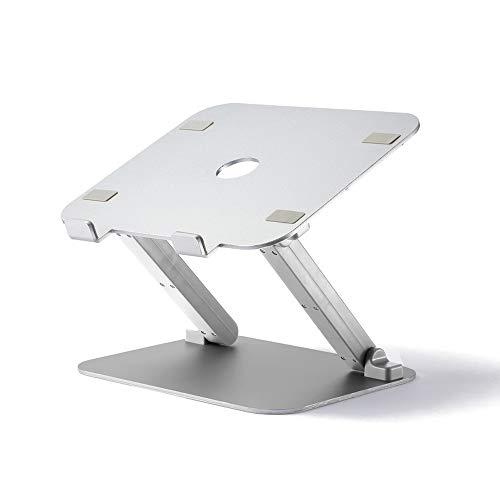 Support pour Ordinateur Portable - Aluminium/Silicone, réglable en Hauteur, en Silicone antidérapant, Base de Support de Refroidissement Portable pour Ascenseur, Pliable et créatif - 2 Couleurs à ch